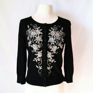 Spense Sweaters - SPENSE Beaded Cardigan