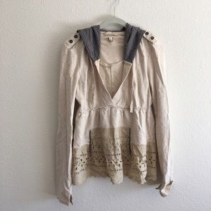 Free People lace sweatshirt vintage