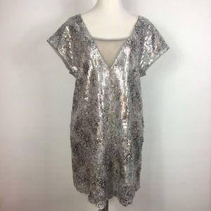 Free People Midnight Dreamer Shattered Glass Dress