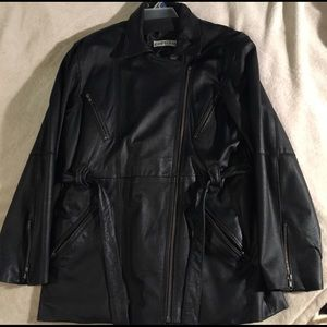 Jackets & Blazers - Women's black leather jacket