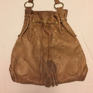 Bulga Handbags - Tan Bulga bag with metal detail