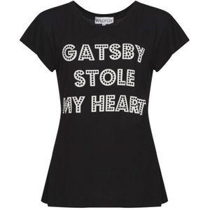 RARE! Wildfox® Gatsby Stole My Heart Tee [black]