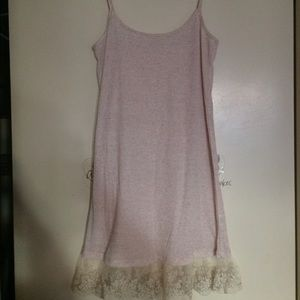 Boutique 9 Tops - NWT   boutique pink white lace tank top