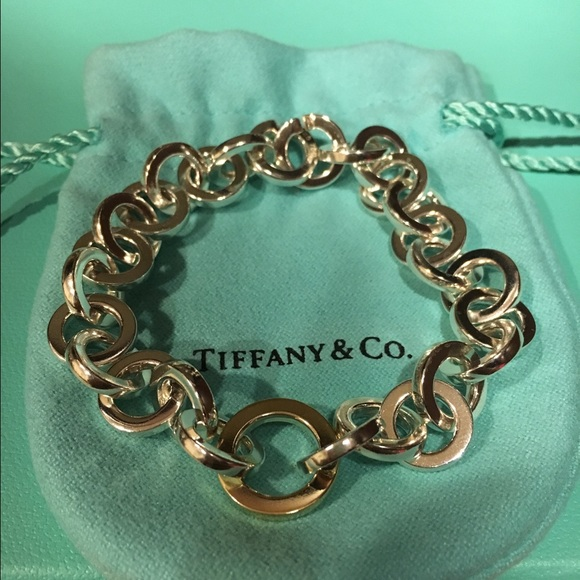 f676ae72edff0 Tiffany & Co. Circle Link Bracelet Silver&18K Gold