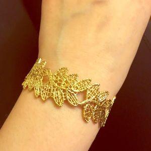 Anthropologie Jewelry - 💫 Gold-Leaf Bracelet 😘 Boutique