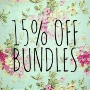 15% off two or more items ❤