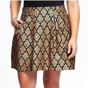 Old Navy Dresses & Skirts - Gold Metallic Jacquard Plus Skirt