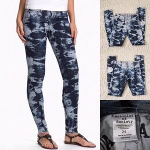 Articles of Society Denim - Articles of Society Tie Dye Skinny Jeans
