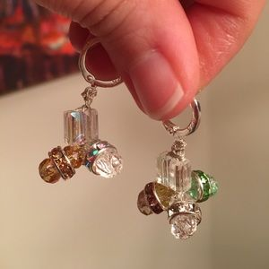 Hand Made Crystal Earrings.