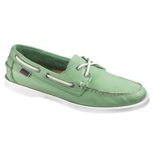 Sebago Shoes - Green Sebago Docksides Boat Shoes