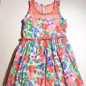 Nannette Other - Nannette Girls Belted Floral Spring Easter Dress 5
