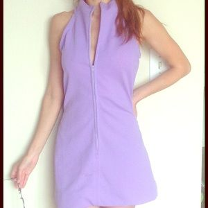 Tailor Vintage Dresses & Skirts - Purple vintage zip up dress