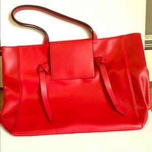 Handbags - Red Tote Bag