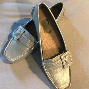 UGG Shoes - UGG Silver Loafers,Size 8