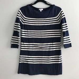 A Pea in the Pod Sweaters - Striped Navy/white Maternity Sweater, size medium