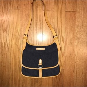 VINTAGE! Dooney & Burke Denim Saddle Bag