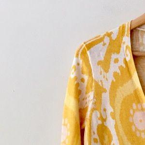 J. Crew Sweaters - J. Crew Yellow Cotton Cardigan