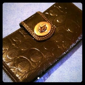Coach Handbags - Coach Patent Leather Embossed Wallet