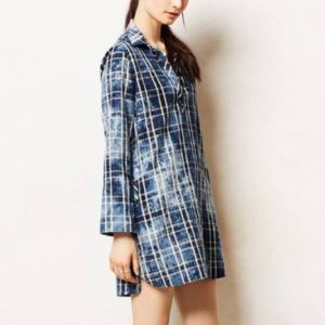 Plaid Chambray dress with pockets! !
