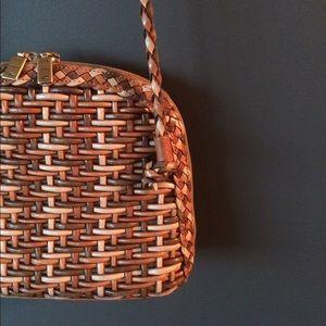 Vintage CEM leather crossbody festival style bag