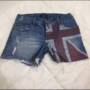 Delia's Pants - Delia's Union Jack Denim Shorts
