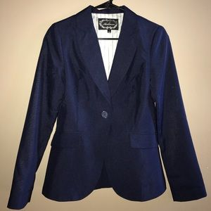 Ambiance Apparel Jackets & Blazers - Navy blue blazer