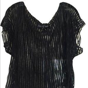 Haus Of Price Tops - Haus of Price Women's Short Sleeve Semi Sheer Top