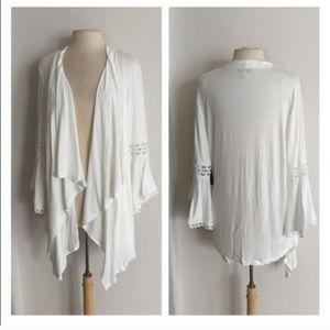 Sweaters - (Plus) White cardigan