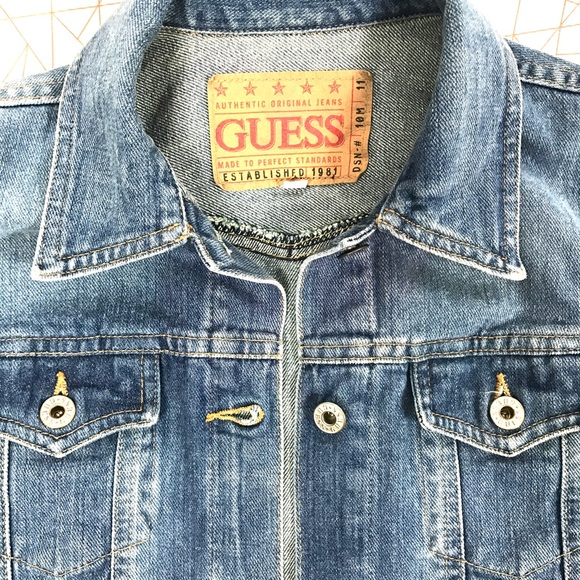 Guess Jackets Coats 80s Vintage Denim Jacket Poshmark