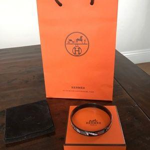 Hermes Jewelry - Hermes Enamel Printed bracelet