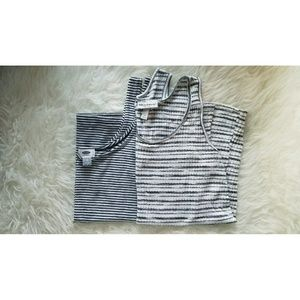 Liz Lange for Target Tops - Black & White Striped Maternity Tanks Bundle