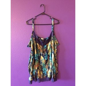 Feather Lace Tank