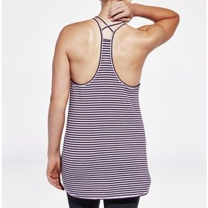 CALIA by Carrie Underwood Tops - Calia by Carrie Underwood Strappy Striped Tank Top