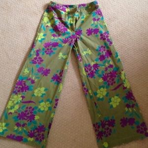 Oilily Pants - Oilily Cropped Wide Leg Pants