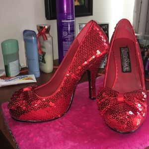 Funtasma Shoes - Red glitter heels! 💋
