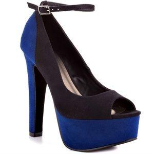 Michael Antonio Shoes - * 50% OFF ALL BUNDLES Black blue ankle strap heels