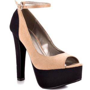 Michael Antonio Shoes - *50% OFF BUNDLES* Nude and black ankle strap heels