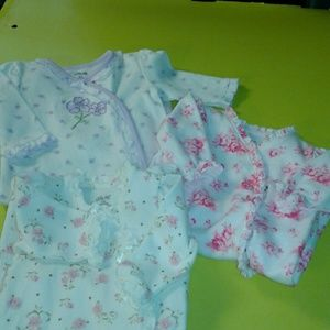 Little Me Other - 3pc lot Little Me footed one piece 3 mth