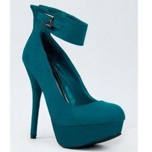 Breckelles Shoes - * 50% OFF ALL BUNDLES* teal ankle strap high heels