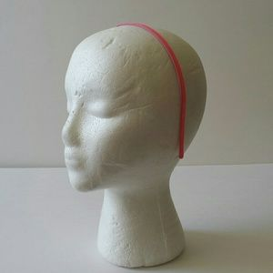 J.Crew Neon Pink Thin Patent Leather Headband