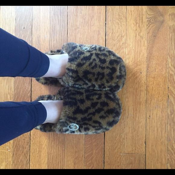 leopard print house shoes