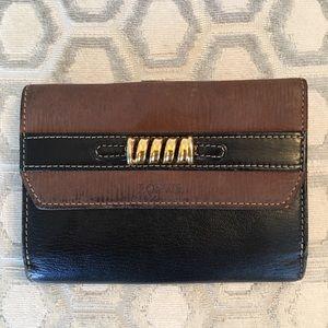 Loewe Handbags - 🛍 Loewe Brown Black Gold Leather Snap Wallet