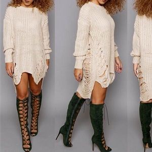 Creamy knitted Dress