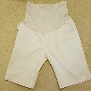 Maternity white shorts