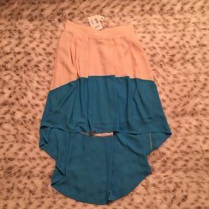 Ya Los Angeles Dresses & Skirts - NWT Ya Los Angeles Color Block High Low Skirt