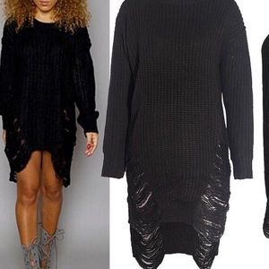 Dresses & Skirts - Black knitted dress