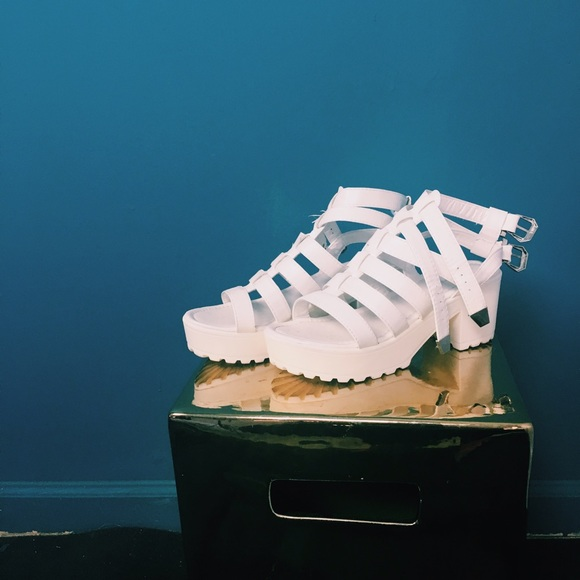 Forever 21 Shoes - White Gladitor Sandals