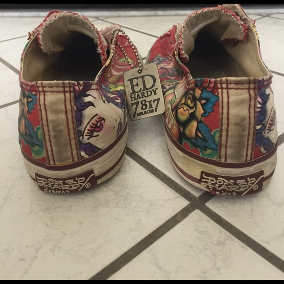 Red Shoes Women Ed Hardy