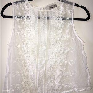 ASOS White Lace Crop Top