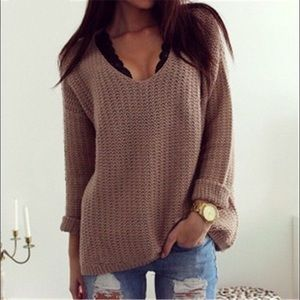 Brown light sweater